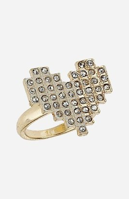 Topshop Pixelated Heart Ring