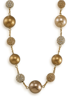 Carolee Necklace, Glass Pearl and Fireball Illusion