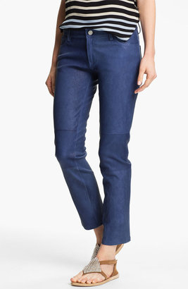 L'Agence Skinny Crop Leather Jeans