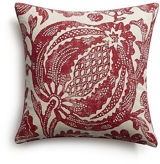 Crate & Barrel Pomegranate Pillow with Feather-Down Insert.