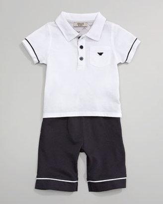Armani Junior Polo & Short Set