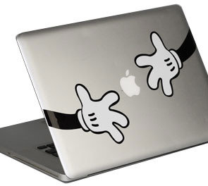 Yamamoto Industries Macbook HD Decal - Mickey Hands
