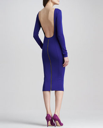 Boulee Rayne Backless Zip Dress, Blue