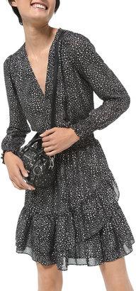 MICHAEL Michael Kors Spaced Galaxy Printed Ruffle Dress