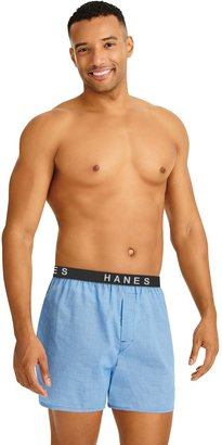 Hanes Men's Ultimate 5-pack Plaid Woven Boxers