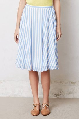 Anthropologie Striped Sky Skirt