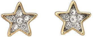 Juicy Couture Tiny Stars Pave Stars Stud Earrings (Gold) - Jewelry