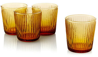 (SPARKLEWARE) SHANXI HONGXUAN TRADE CO., S/4 Ribbed DOF Glasses, Amber
