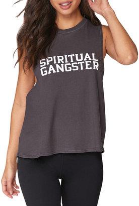 Spiritual Gangster Logo Surplice Back Swing Tank