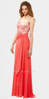 Faviana One Shoulder Embroidered Bodice Evening Dresses