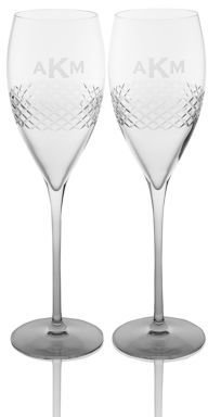 Gourmet Dining Rolf Glass Personalized Champagne Flutes/Set of 2