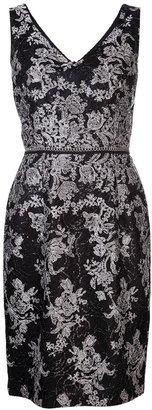 David Meister knit lace dress