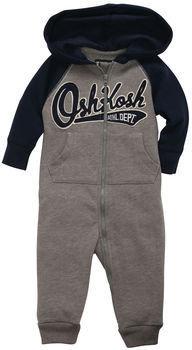 Osh Kosh Fleece Active One-Piece Hoodie