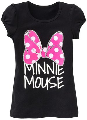 "Disney mickey mouse & friends ""minnie mouse"" bow tee - girls 4-6x"
