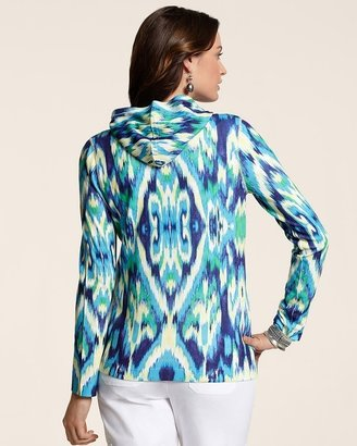 Chico's Zenergy Multi Ikat Zip Hoodie Jacket