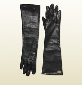 Gucci Women's Black Leather Gloves