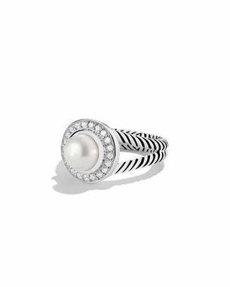 David Yurman Petite Cerise Ring with Pearl and Diamonds $675 thestylecure.com