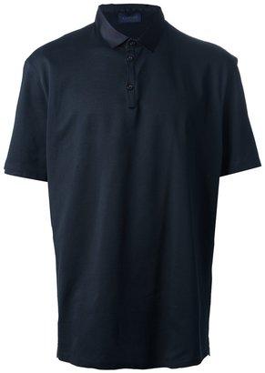 Lanvin pique grosgrain collar polo shirt