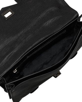 Proenza Schouler PS1 Leather Pochette, Black