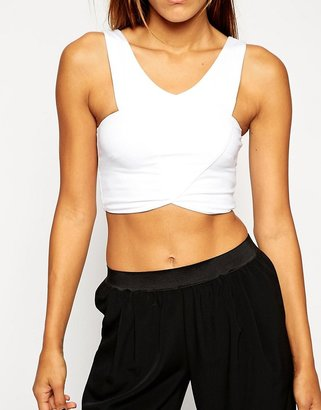 Asos Wrap Front Crop Top