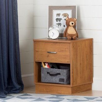 South Shore Logik 1 Drawer Nightstand Color: Country Pine