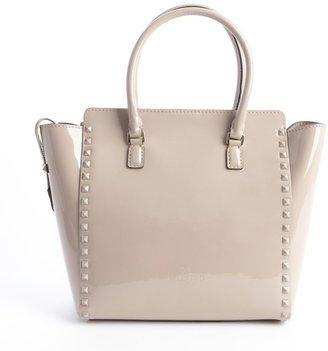 Valentino Light Lavender Leather Studded Detail Convertible Shoulder Bag