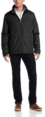 Nautica Men's Box Quilted-Sherpa Bomber Jacket