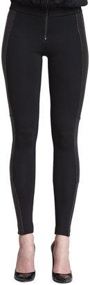 Alice + Olivia Ponte/Leather Combo Leggings