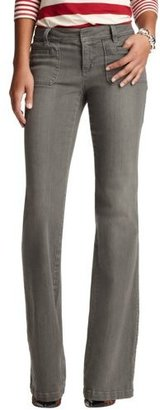 LOFT Tall Front Pocket Modern Flare Leg Jeans in Antique Grey Wash