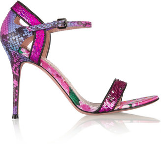 Jean-Michel Cazabat Jean Michel Cazabat Oka sequined snake-effect leather sandals