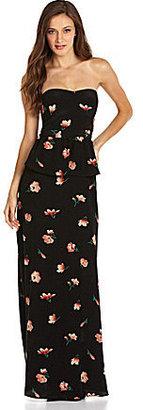 Miss Me Floral-Print Peplum Maxi Dress