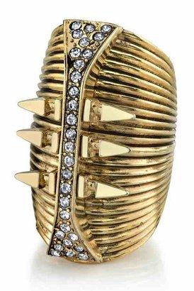 Belle Noel by Kim Kardashian 14KT Gold Glam Rock Long Finger Ring