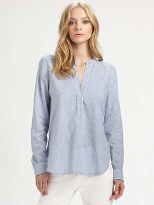 Vince Pinstriped Blouse