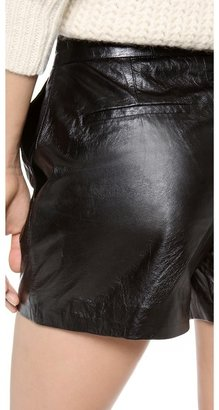 Theyskens' Theory Pastil Leather Shorts