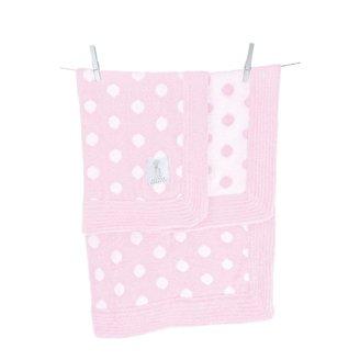 Little Giraffe Dolce Dot Blanket - Pink