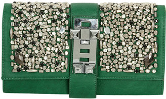 Arden B Embellished Leatherette Clutch