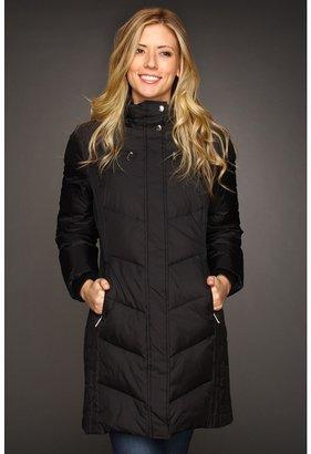 MICHAEL Michael Kors Chevron Quilted Down Coat (Black) - Apparel