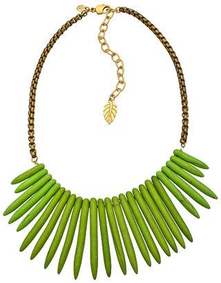 David Aubrey Green Turquoise Spike Necklace