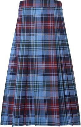 Unbranded Howell's School Girls' Tartan Pleat Skirt, Blue/Multi