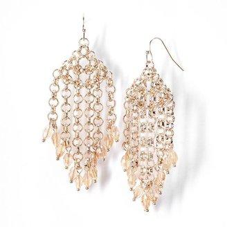Vera Wang Simply vera gold tone bead chandelier earrings