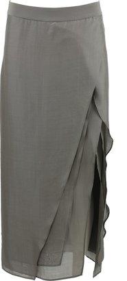 Brunello Cucinelli Layered Slit Skirt