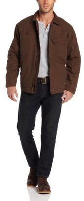 Wrangler Men's Big Outerwear Sherpa Lined Cargo Work Jacket