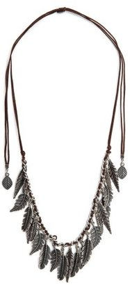 MANGO Feather Cord Necklace