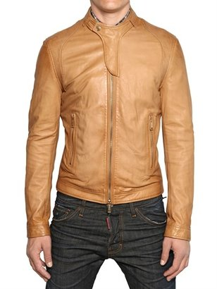 DSquared Soft Nappa Biker Leather Jacket