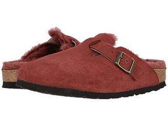Birkenstock Boston Shearling (Port/Port Suede/Shearling) Clog Shoes
