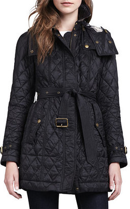 Burberry Finsbridge Hooded Quilted Jacket, Black $795 thestylecure.com