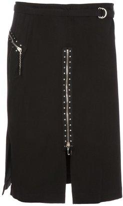 John Richmond Vintage zip detail skirt