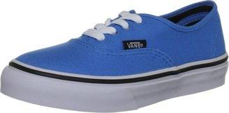 Vans Unisex Authentic Malibu Blue/Black Canvas Trainer VRQZ80J 12 UK Junior 12.5 US