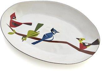 Crate & Barrel Marin Birds Platter