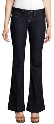 Sold Denim indigo crosshatch cotton blend 'Houston High Heel' bootcut jeans